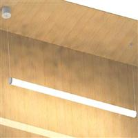 50x2400 horizontal pendan circular linear luminaire