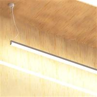 60x1200 Saliente LED tube linear round suspended channel
