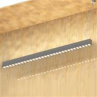 1500 horizontal pendant led linear luminaire with square lens