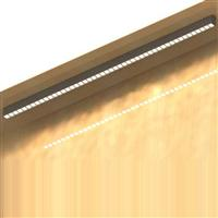 1500 led linear luminaire with square lens Ceiling Surface Mounted