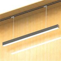 1000 LED Linear lighting fixture suspension rail system