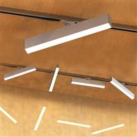 1200 Adjustable  LED Linear Track Rail Mounted  Lighting Fixture