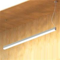 1000 extruded LED w down lens Narrow LED linear luminaire