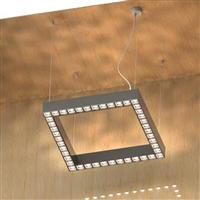 300 anti-glare led linear Square shaped suspension luminaire