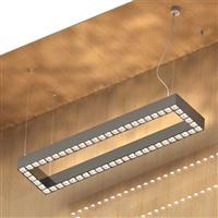 1.5X0.3m square profile  LED Linear Grid Ceiling Pendant trimless