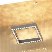 1000 Dual direction illumination Square shaped suspension luminaire