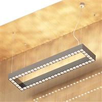 540w Suspended linear square led luminaire  50% 50% down/uplight