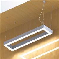 1.5X0.3m square profile  LED Linear Ceiling Pendant trimless