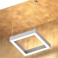 900 Uplight and Downlight Linear LED Square Ceiling Pendant