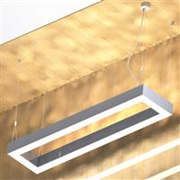 540w Suspended linear square led luminaire down uplight