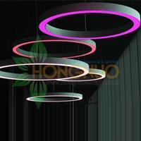 RGBW Circula led Chandeliers 1.5m curved aluminium