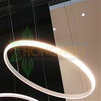 600 Slim and minimalistic Circular Ring Pendant LED Light Fixture