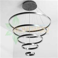 5 circles minimalist Slim Large five rings shaped suspended led light