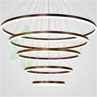 5 rings extra large LED LED Circular Halo Circula LED Chandeliers