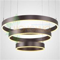 minimalist Slim Large 3 ring shaped suspended led lighting