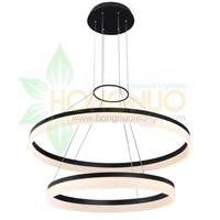 600x400 acrylic 2 rings minimalist ring suspended LED Light Fixture
