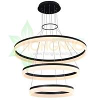 High quality super large 3 rings acrylic ring Pendant LED luminaire