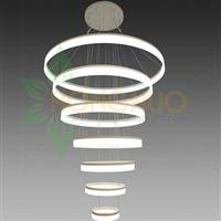 7 rings extra large acrylic Ring LED Pendant direct vs indirect light