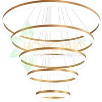 extra large 5 rings acrylic ring led Chandeliers led Circular Halo