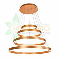 4 rings direct indirect light distribution acrylic led pendant light