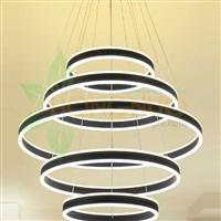 5 rings High quality acrylic ring suspended LED circular luminaire