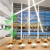 Modern led Office Lighting Project Architectural LED Tube Suspension