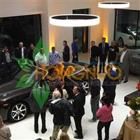 Auto Showroom Project lighting ring led Pendants Opal Acrylic Diffuser