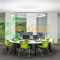 Modern led Office Lighting Project Office building ring led lighting