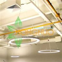 Coffee shop led Lighting Project Circular Dual Distribution led Light