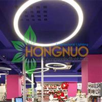 Supermarket malls led Lighting Application Project case Ring LED lamps