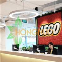 LEGO Toys Group Lighting Project Circular Ring LED Pendant