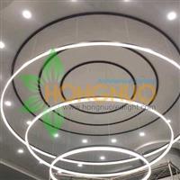 Hotel Lighting Project Hospitality extra large LED ring pendant