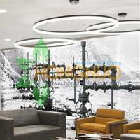 Modern led Office Lighting Project Office building Ring LED Pendants