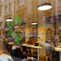 Library led lighting Project Circular suspension LED luminaire Library
