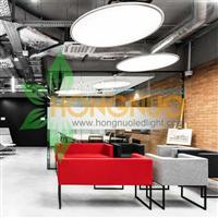 Modern Office building Lighting Project LED circular suspended light