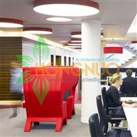 Modern Office building led lighting Project Circular LED luminaire