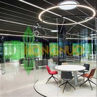 Modern led Office Lighting Project large Circular Ring LED Pendant