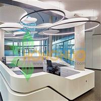 Modern Office Lighting Project Extra large LED ring pendant