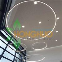 Modern Office Lighting Project suspended LED circular luminaire