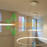 Modern led Office building led lighting Circular Ring LED Pendants