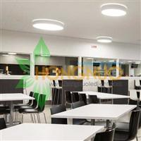 Modern led Lighting Office building Project Circular surface led light