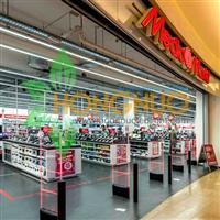 Media markt Lighting Project Supermarket malls LED Linear Pendant Lamp
