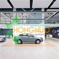 Auto Showroom Lighting Project Motor Show Square LED Pendants